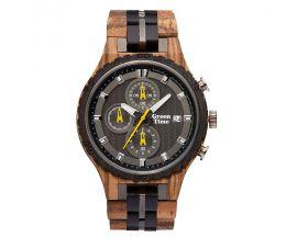 Montre homme chronographe bois d'ébène Green Time - ZW106A