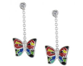 Boucles d'oreilles pendants argent Una Storia - BO121100