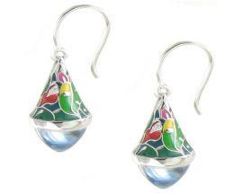 Boucles d'oreilles pendants argent oxydes Una Storia - BO121204