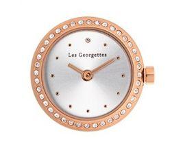 Boîtier montre Les Georgettes Coutures - Précieuses ronde rosé argent