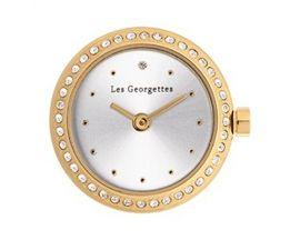 Boîtier montre Les Georgettes Coutures - Précieuses ronde doré champagne