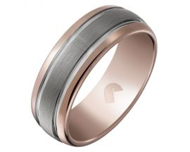 Bague tungstene bicolore Jourdan - OU015H
