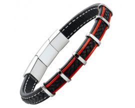 Bracelet homme cuir & acier Jourdan - RC011H