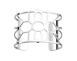 Bracelet manchette Les Georgettes - Balade argenté 40 mm