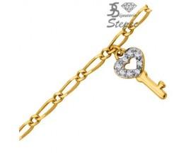 Chaine de Cheville plaqué or GL Paris - Altesse - 70102800108