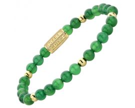 Bracelet perles Rebel & Rose Green Harmony 6 mm - RR-60067-G