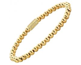 Bracelet perles Rebel & Rose Yellow Gold Only 4 mm - RR-40038-G