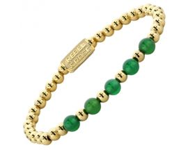 Bracelet perles Rebel & Rose ellow Gold meets Green Harmony 6mm - RR-60062-G