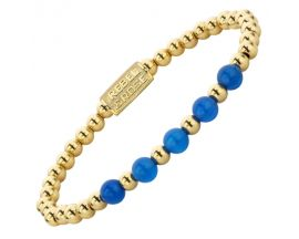 Bracelet perles Rebel & Rose Yellow Gold meets Brightening Blue 6 mm - RR-60066-G