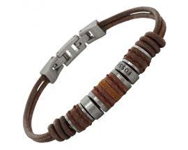 Bracelet cuir & acier Fossil - JF00900797