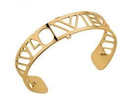 Bracelet manchette Les Georgettes - Love doré 14 mm