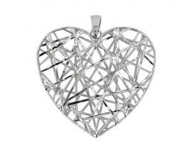 Pendentif coeur argent Stepec - 3160971