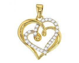 Pendentif coeur plaqué or oxydes Stepec - 3260126