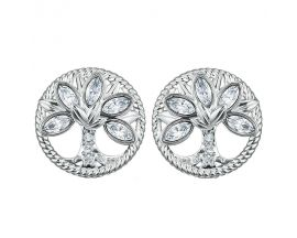 Boucles d'oreilles boutons Tree of life Swarovski - 5540301
