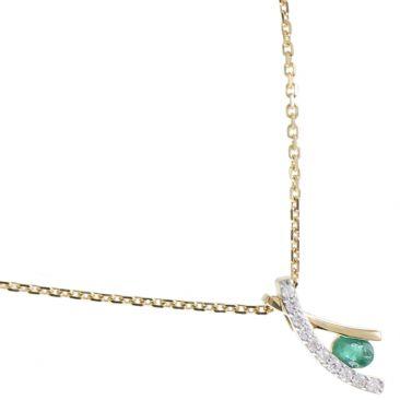 Collier or émeraude(s) & diamant(s) Stepec - aHNlIIPTj em oj