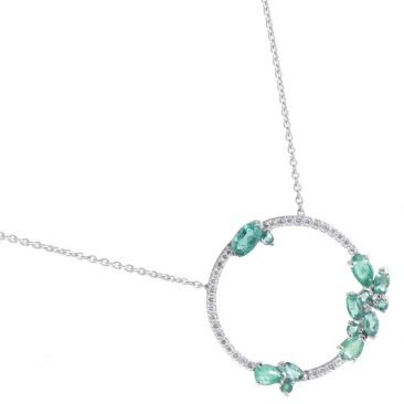 Collier or émeraude & diamant(s) Stepec - aHNlIBSJg em og