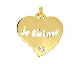 Pendentif coeur or & diamant Stepec - 306028