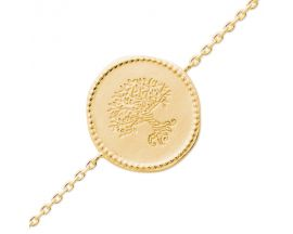 Bracelet plaqué or arbre de vie Stepec - EIBXXEBT