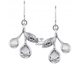 Boucles d'oreilles pendants plaqué argent Nina Ricci - 70121791608000
