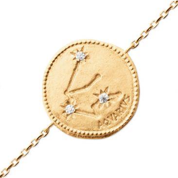 Bracelet plaqué or verseau Stepec - ESJBUJBT