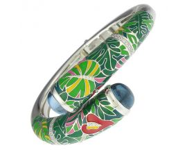 Bracelet rigide argent oxydes Una Storia - JO121204