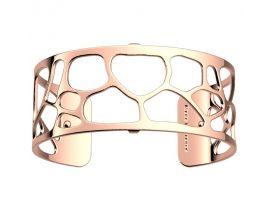 Bracelet manchette Les Georgettes - Léopard finition or rose 25 mm