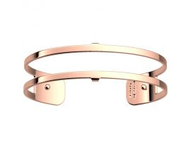 Bracelet manchette Les Georgettes - Pure finition or rose 14 mm