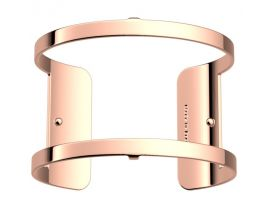 Bracelet manchette Les Georgettes - Pure finition or rose 40 mm