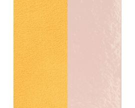 Cuir bracelet Les Georgettes - Rose clair vernis/Citron 40 mm