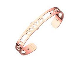 Bracelet manchette Les Georgettes - Lotus finition or rose 8 mm