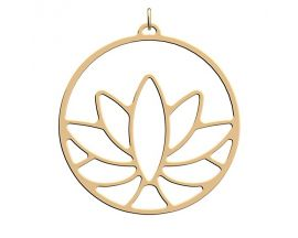 Pendentif collier Les Georgettes - Lotus finition or - 45 mm