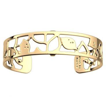 Bracelet manchette Les Georgettes - Limonade finition or 14 mm