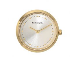 Boîtier montre Les Georgettes Coutures - Grande Absolue rond doré champagne