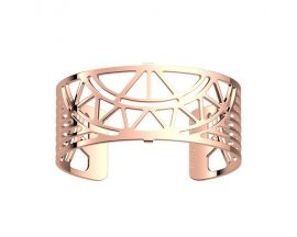 Bracelet manchette Les Georgettes - Talisman finition or rose 25 mm