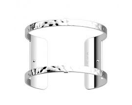 Bracelet manchette Les Georgettes - Pure martelée finition argent 40 mm
