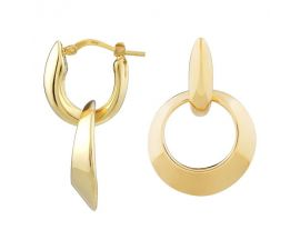 Boucles d'oreilles créoles argent Una Storia - BO13457