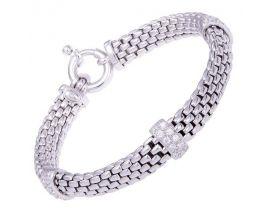 Bracelet argent et oxydes Una Storia - BR134113