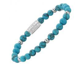 Bracelet perles Rebel & Rose Turquoise Delight II 6 mm - RR-60075-S