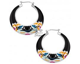 Boucles d'oreilles créoles ligne Tiger Laque argent Kenzo - 70175331109000