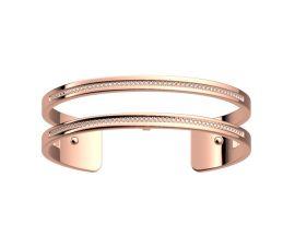 Bracelet manchette Les Georgettes - Pure précieuses finition or rose 14 mm