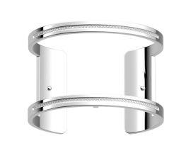 Bracelet manchette Les Georgettes - Pure précieuses finition argent 40 mm