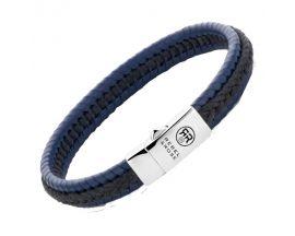 Bracelet cuir et argent Rebel & Rose - RR-L0066-S