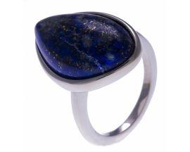 Bague acier et lapis lazuli Stepec - IG 141