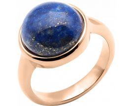 Bague acier rosé et lapis lazuli Stepec - IG 168