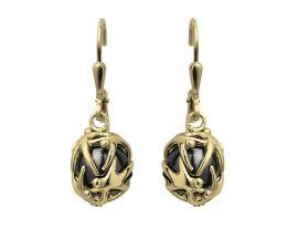 Boucles d'oreilles pendants argent doré Jourdan - ABR024