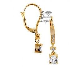 Boucles d'oreilles brisures plaqué or GL Paris - Altesse - 70198900108000