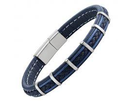 Bracelet homme cuir & acier Jourdan - RC030H