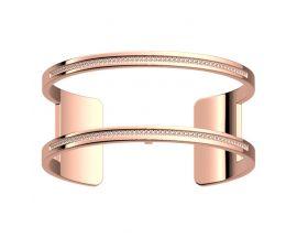 Bracelet manchette Les Georgettes - Pure précieuses finition or rose 25 mm