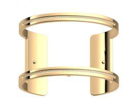 Bracelet manchette Les Georgettes - Pure précieuses finition or 40 mm