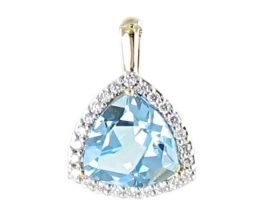 Pendentif or topaze(s) & diamant(s) - 133P3900-02